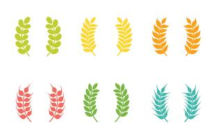Wheat Ears Vector Icons