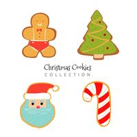 Cute Christmas Gingerbread Collection vector