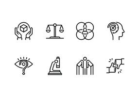 Personality and character set linear icon vector