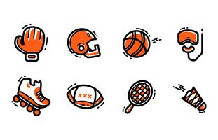 Sportausrüstung Icon Set