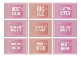 Vector Glossy Price Flash Tags