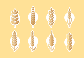 Wheat Oars Free Vector Pack