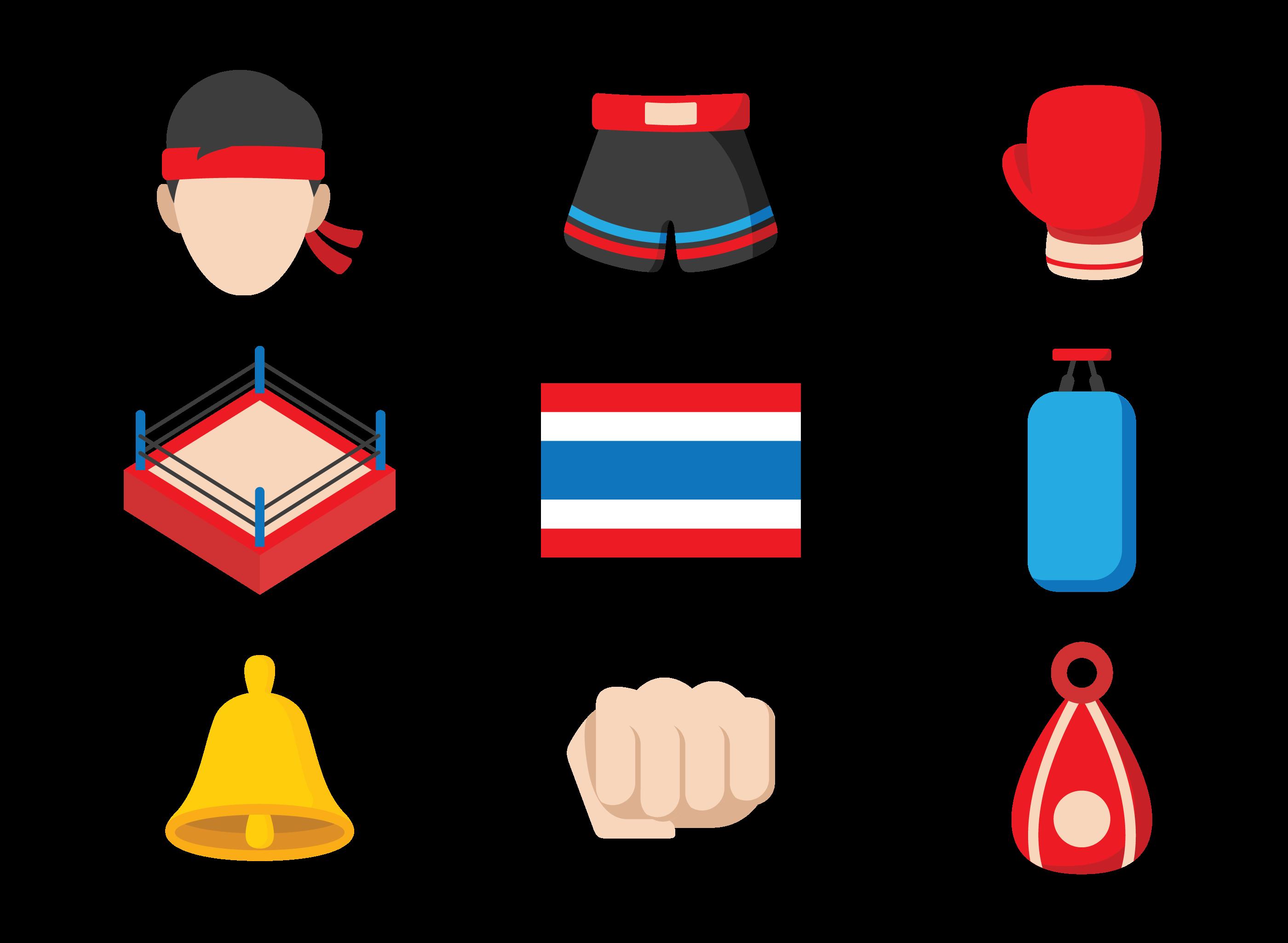 Muay Thai Icons Vector Download Free Vectors Clipart Graphics