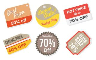Price Flash Vector Icons