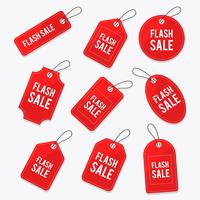 Price Flash Tag Vector