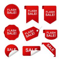 Precio Flash Sticker Vector