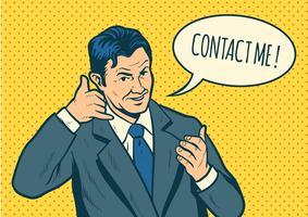 Contact Me Vector