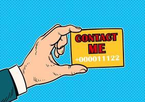 Contact Me Concept Vector