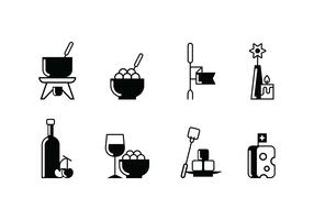 Fondue party set icon