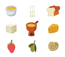 Fondue Icons Vector