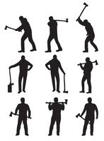 Woodcutter Silhouette Vectors