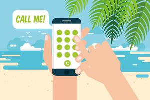 Beachy Contacte-me Vector