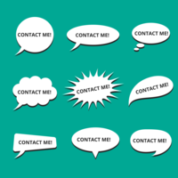 Speech Bubble Contact Me Vector