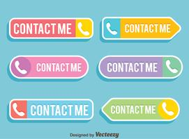 Flat Contact Me Button Vector