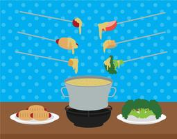 Fondue vector illustration