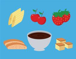 fondue vector set