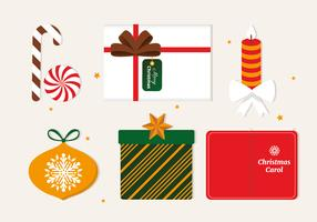 Elementos grátis do vetor Flat Christmas