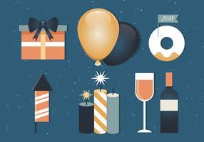 Gratis gelukkig Nieuwjaar achtergrondelementen