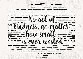 Typograhpic Kindness Quote Poster