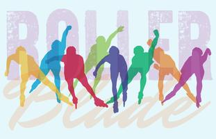 Rollerblade Silhouettes Illustration
