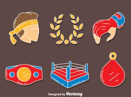 Muay Thai Element Vector