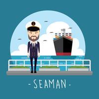 Seemann Frei Vektor