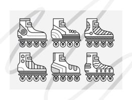 vecteurs de rollerblade