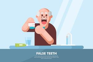 False Teeth Illustration