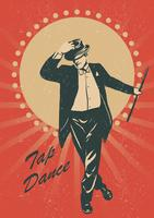 vector de cartel de tap dance