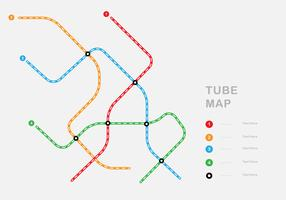 Carte du tube simple