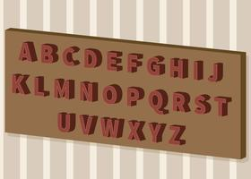 Free 3D Fonts Set Illustration