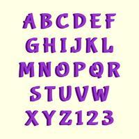 Alfabeto em vetor 3D