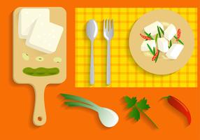 Tofu kostenlose Vektor