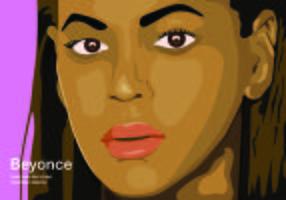 Illustration Ansikte Beyonce