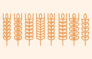 Wheat Ears Icons And Logos vector