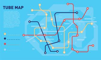 Tube Map Blue Color Vector