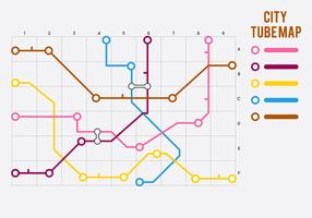 Gratis unieke tube map vectoren