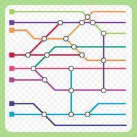 Metro Map Scheme Background