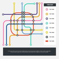 Abstract Color Tube Map Stock Vector Background