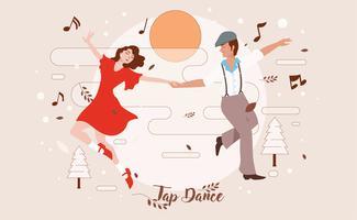 Appuyez sur vecteur de danse