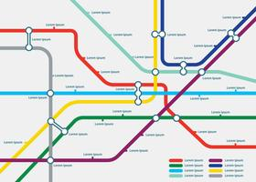 Free Tube Map Template Illustration