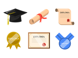 Vector de diploma gratis