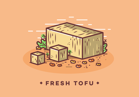 Free Fresh Tofu Vector