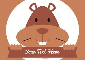 Cute Flat Style Gopher Illustration