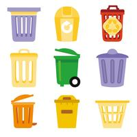 Waste Bakset or Trash Can Vector