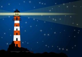 Bucht mit Leuchtturm-Hintergrund
