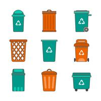 Free Waste Basket Vector Collection