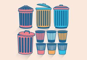 Vector de cesta de residuos