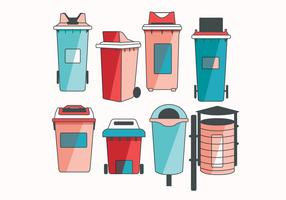Waste Basket Vol 2 Vector