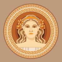 Aphrodite antiken griechischen Logo Vector